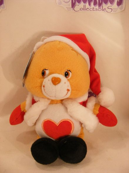 "BNWT CHRISTMAS 8"" TENDERHEART CARE BEARS BEANIE"
